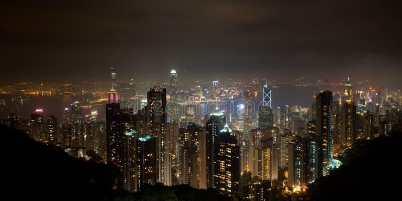 Hong Kong panorama- sikt royaltyfri foto