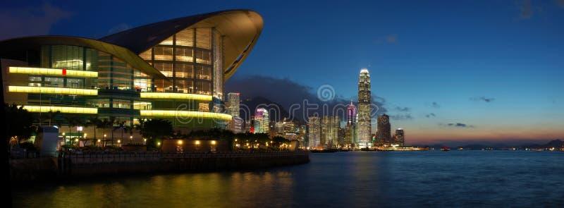 Hong Kong panoramasikt royaltyfria bilder