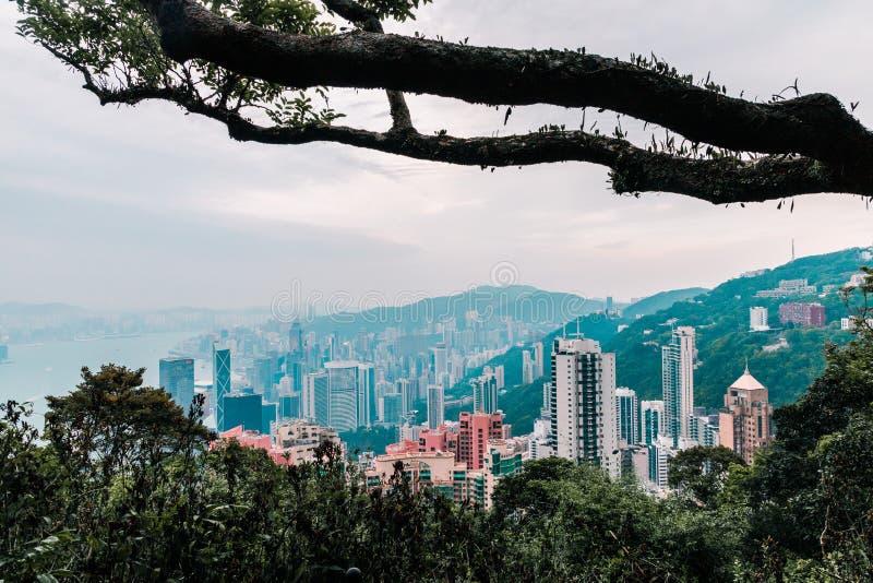 Hong Kong par une perspective différente images stock