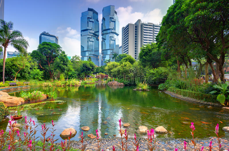 Hong Kong park obraz royalty free
