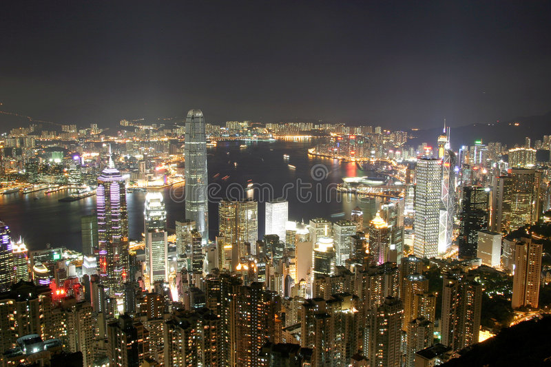 Hong Kong from the Peak stock image