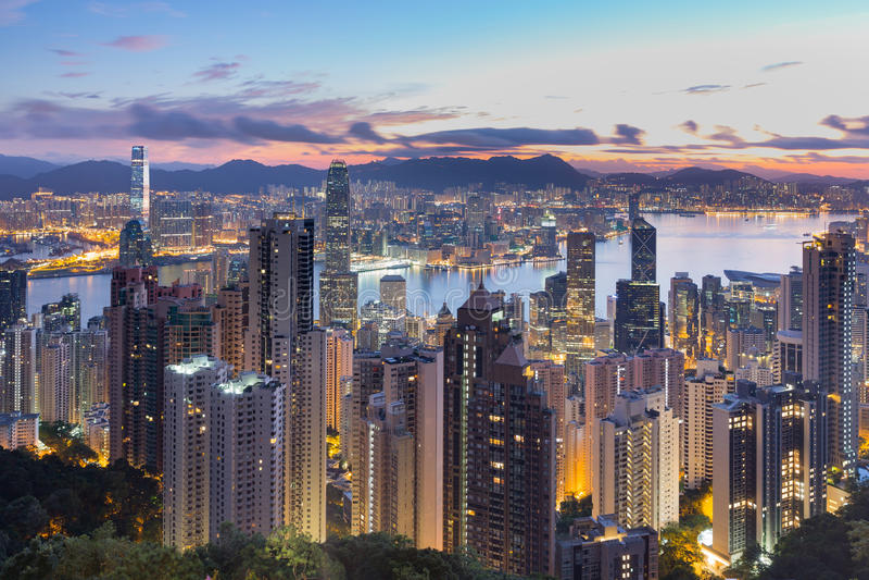 Hong Kong Peak Tram stock photo