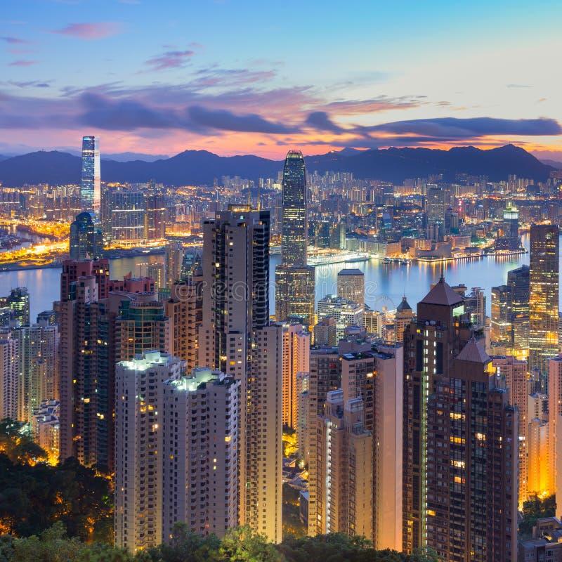 Hong Kong Peak Tram. The Peak Tram morning view from Hong Kong royalty free stock photos