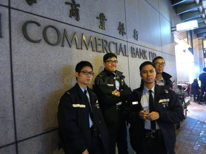 Hong Kong Police Brace voor Protesten stock foto