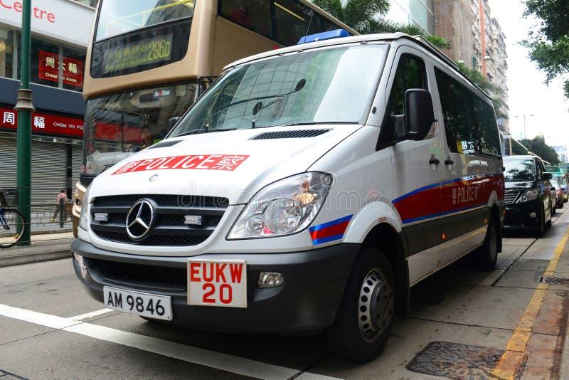 Hong Kong police vehicle on duty royalty free stock photos