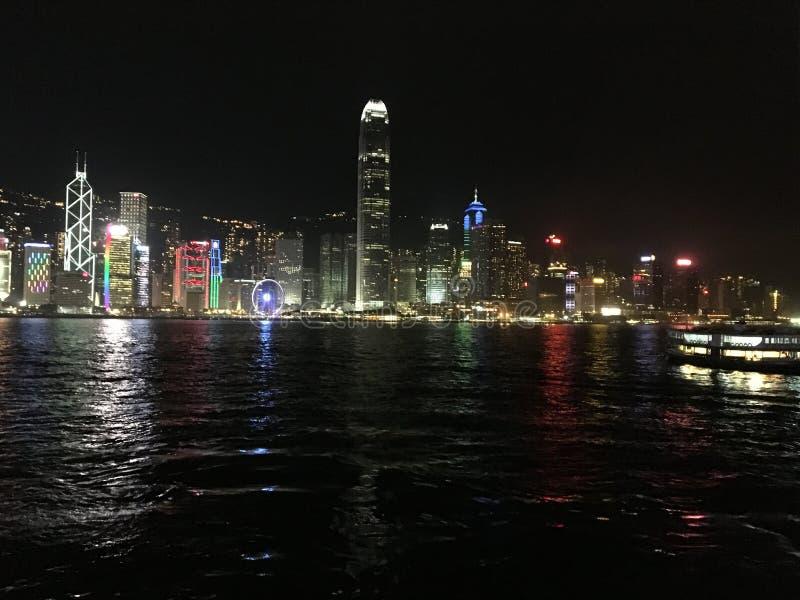 Hong-Kong por noche imagen de archivo libre de regalías