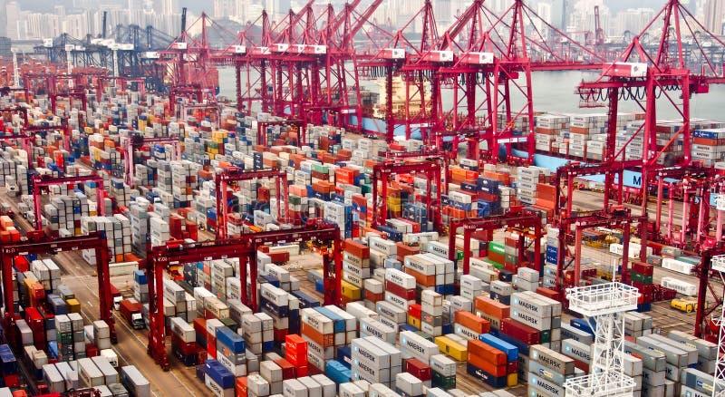 Hong Kong port royaltyfria bilder