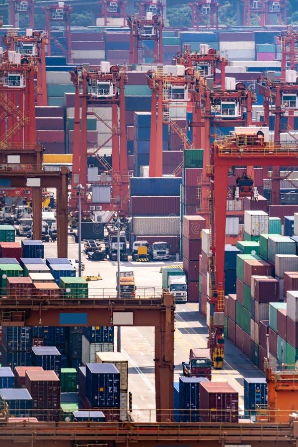 Hong Kong Port Working stock image