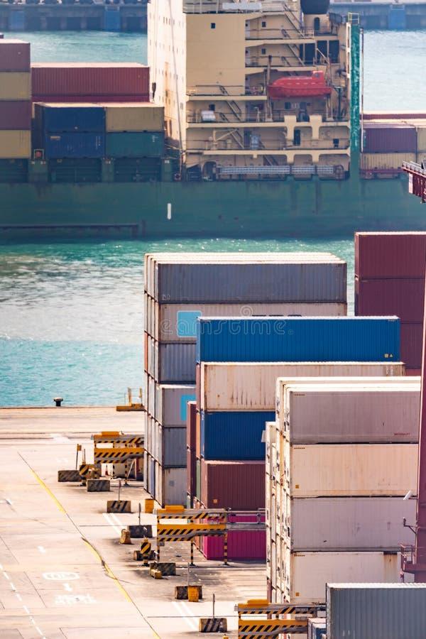 Hong Kong Port Working royalty free stock image