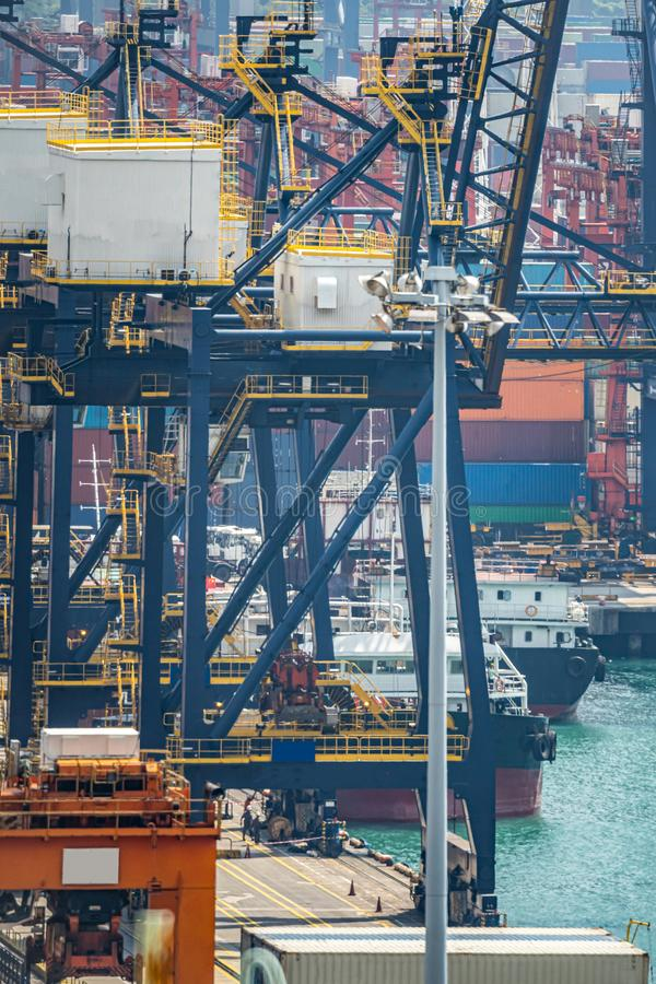Hong Kong Port Working stock photo