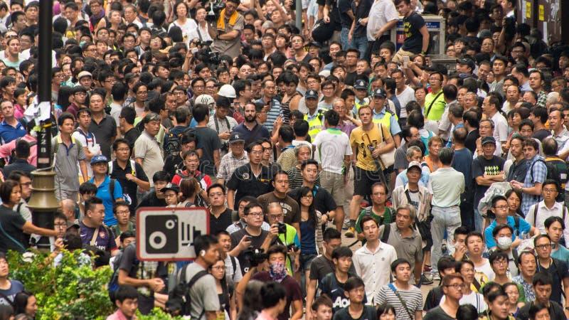 Hong Kong Protesters Standoff photo stock