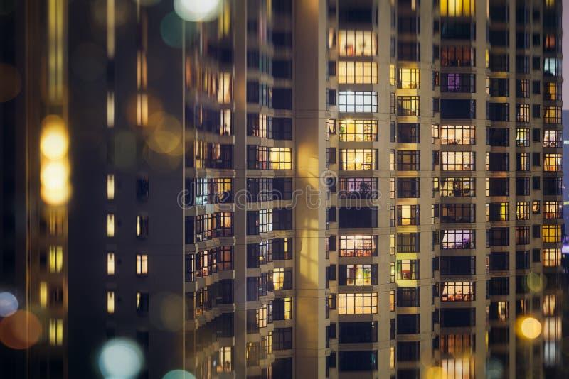 Hong Kong que contiene el bloque de apartamentos foto de archivo libre de regalías