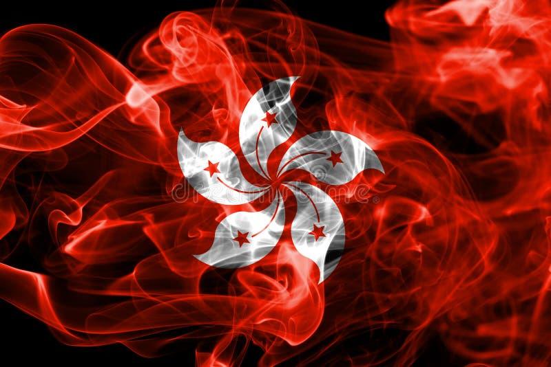 Hong Kong rökflagga, beroende territoriumflagga royaltyfri fotografi