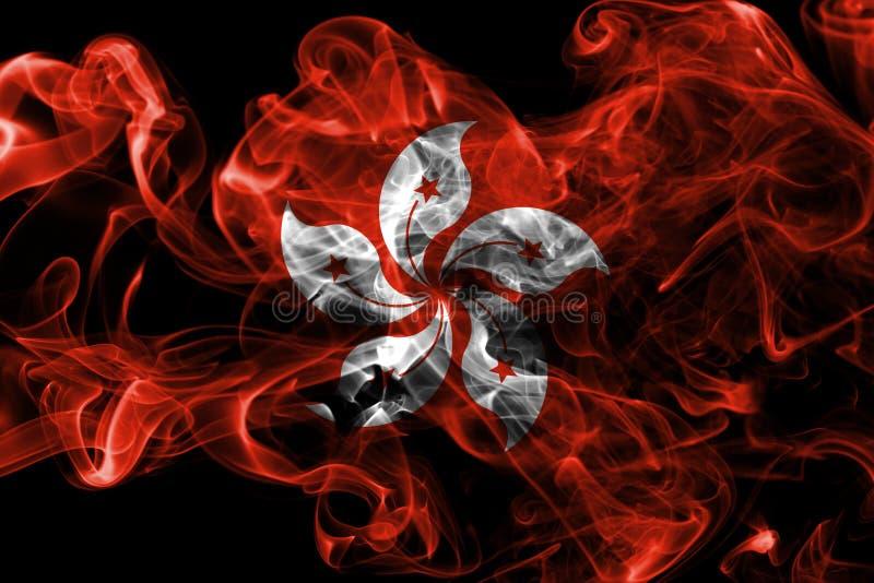 Hong Kong rökflagga, beroende territoriumflagga royaltyfria foton