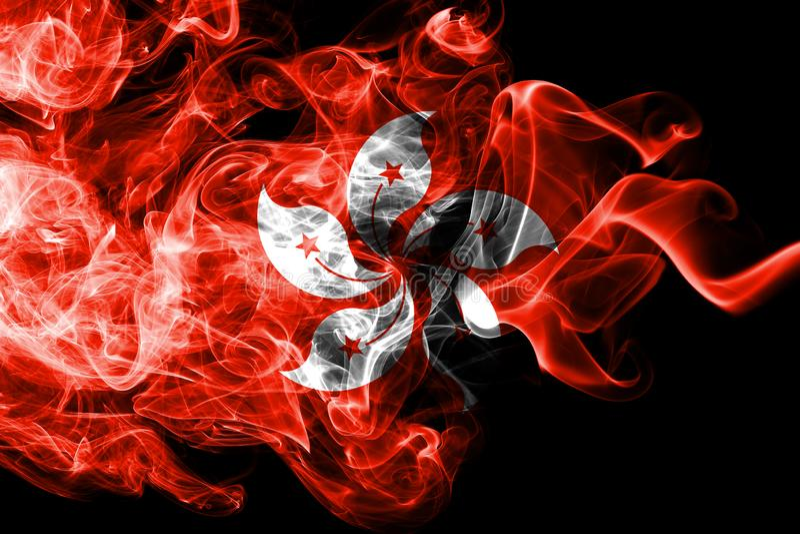 Hong Kong rökflagga, beroende territoriumflagga royaltyfri illustrationer