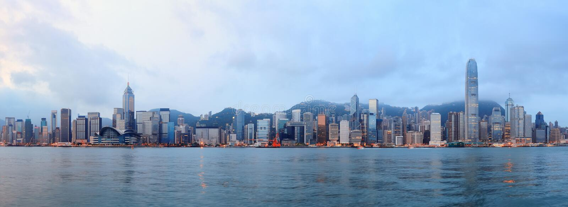 Hong Kong ranek zdjęcia stock