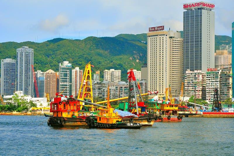 Hong kong reclamation site. Reclamation site at wanchai, hong kong stock photography