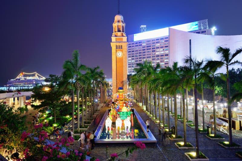 Torre de reloj de Hong Kong imagenes de archivo