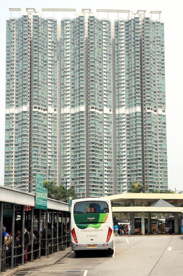Hong Kong Residential Building stock image