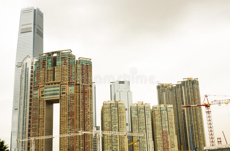 Hong Kong Residential Buildings immagine stock