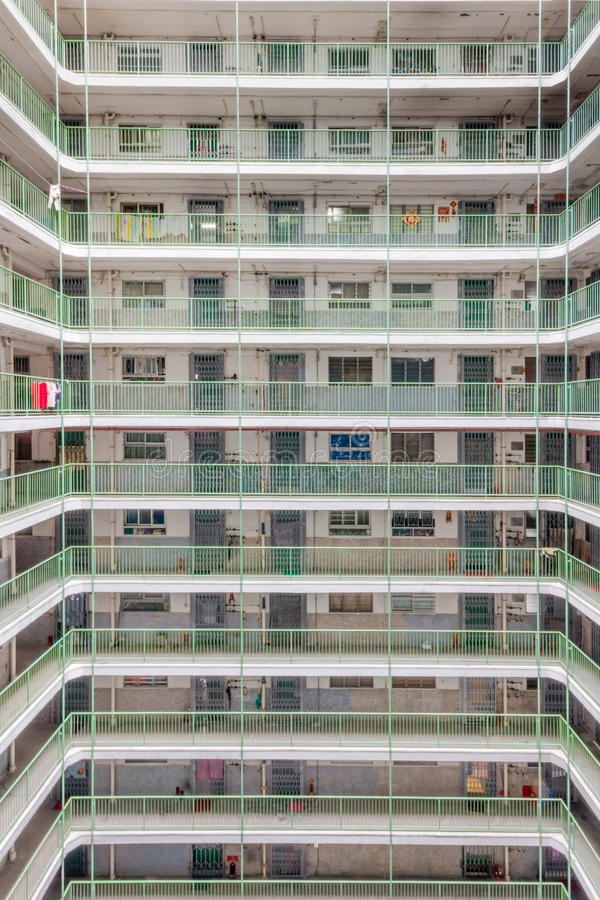Hong Kong Residential old architecture estate, China stock photography