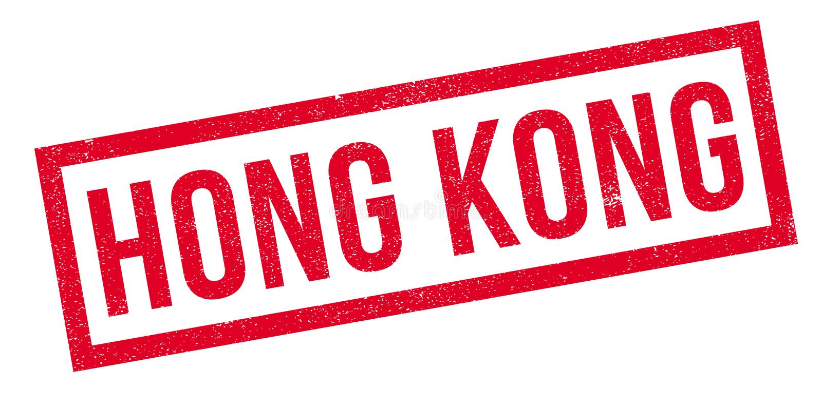 Hong Kong rubber stamp. Grunge design with dust scratches. Effects can be easily removed for a clean, crisp look. Color is easily changed royalty free illustration