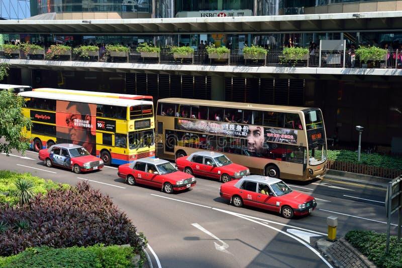 Hong Kong ruch drogowy fotografia stock