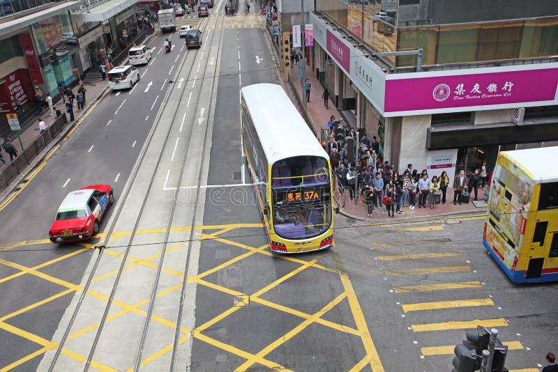 Hong Kong ruchu drogowego uliczny rozdroże obraz royalty free