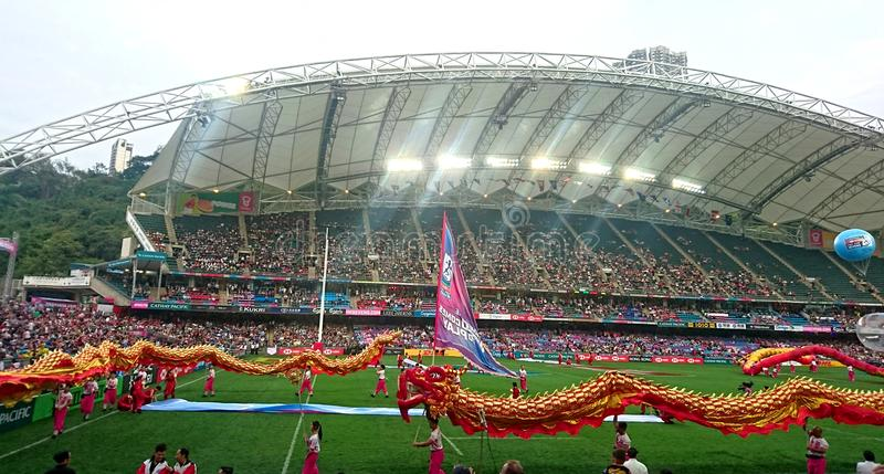Hong Kong Rugby Sevens 2018 fotos de stock