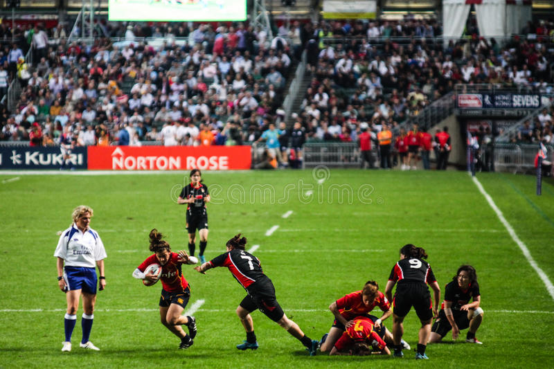 Download Hong Kong Rugby Sevens 2012 Editorial Photography - Image of competitive, people: 24537557