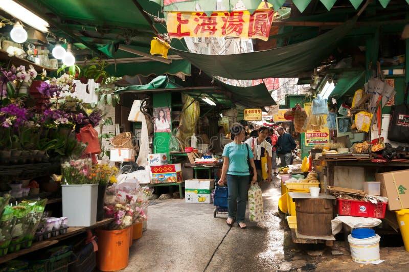 hong kong rynek obrazy royalty free