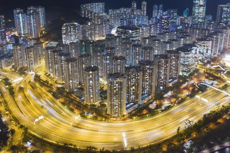Concrete Jungle of HK stock photography