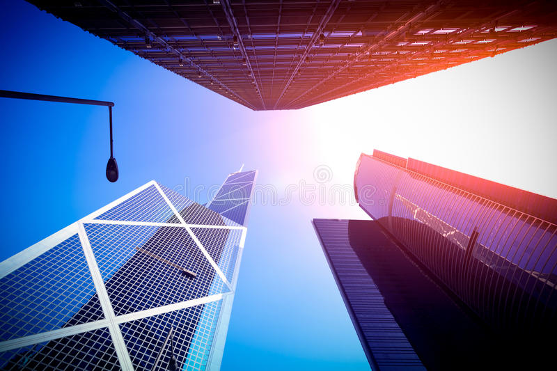 Hong Kong's urban architecture royalty free stock photos