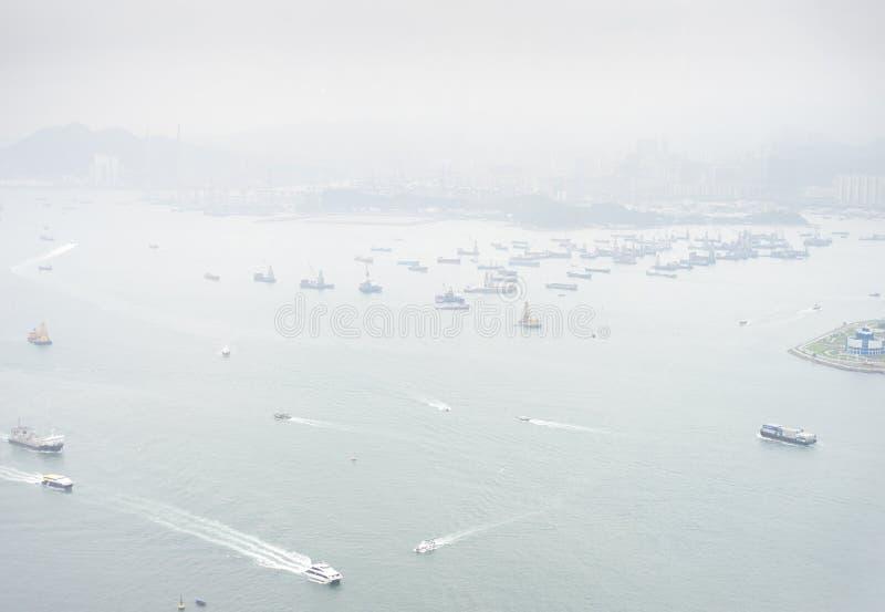 Hong Kong seaport royaltyfria foton