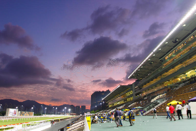 Hong Kong : Sha Tin Racecourse. Racegoers in the Sha Tin Racecourse, Hong Kong royalty free stock photography