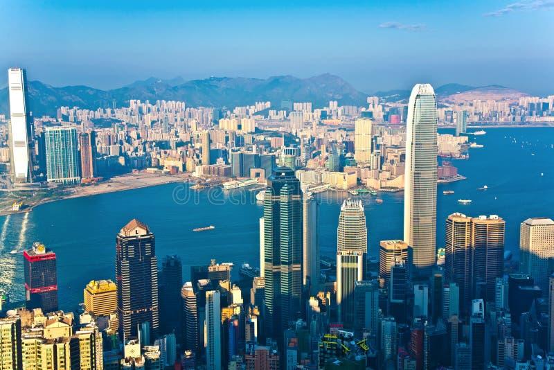 Hong Kong sikt från Victoria Peak arkivbild
