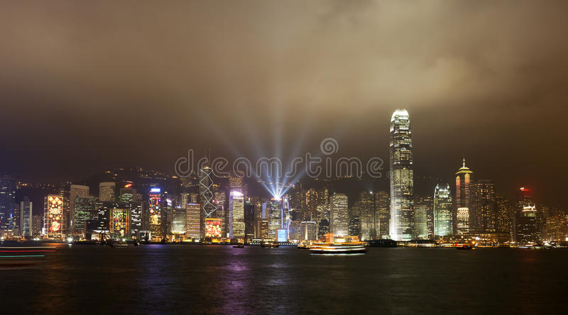 Download Hong Kong Skyline stock photo. Image of line, show, scenes - 24615010