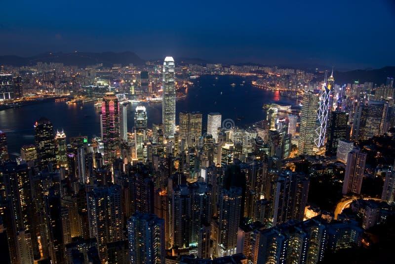 Hong Kong Skyline. Hong Kong at dusk from The Peak royalty free stock image