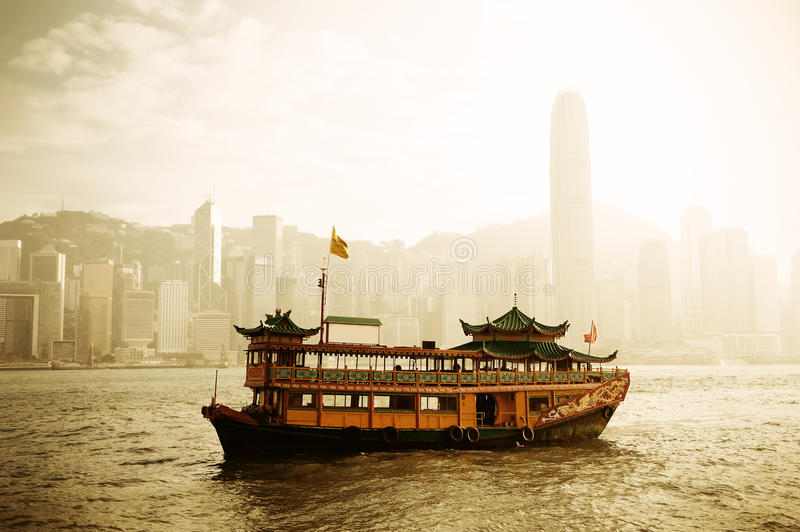 Download Hong Kong Skyline With Boats Stock Photo - Image: 26318252