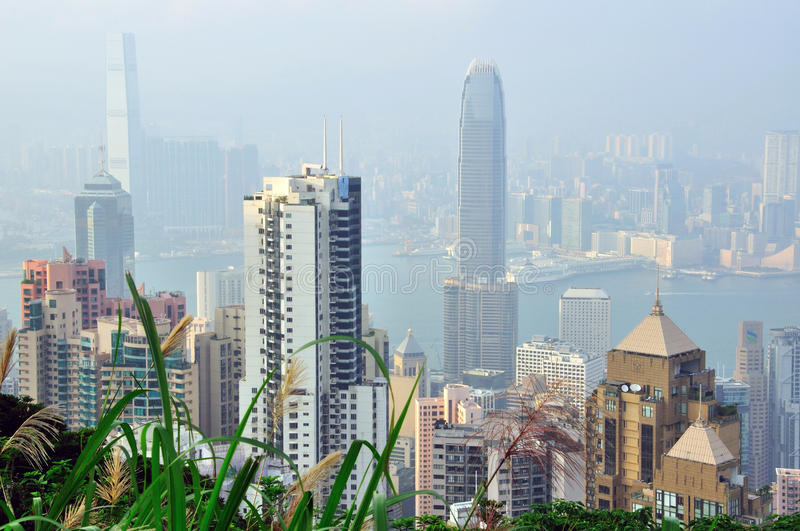 Download Hong Kong skyline editorial stock image. Image of cityscape - 37355304
