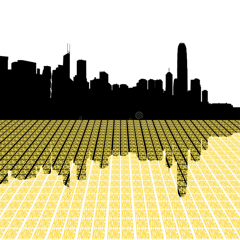 Download Hong Kong Skyline With City Stock Vector - Image: 7881253