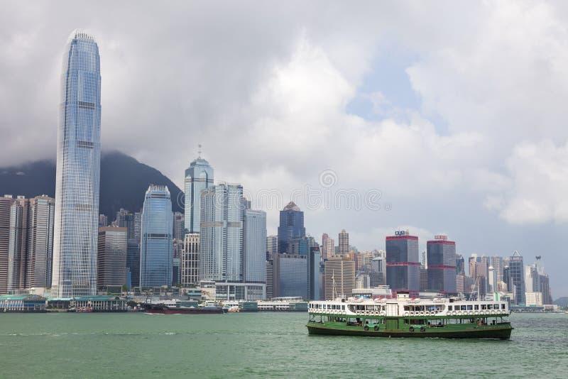 Hong Kong Skyline- und Stern-Fähre lizenzfreies stockbild