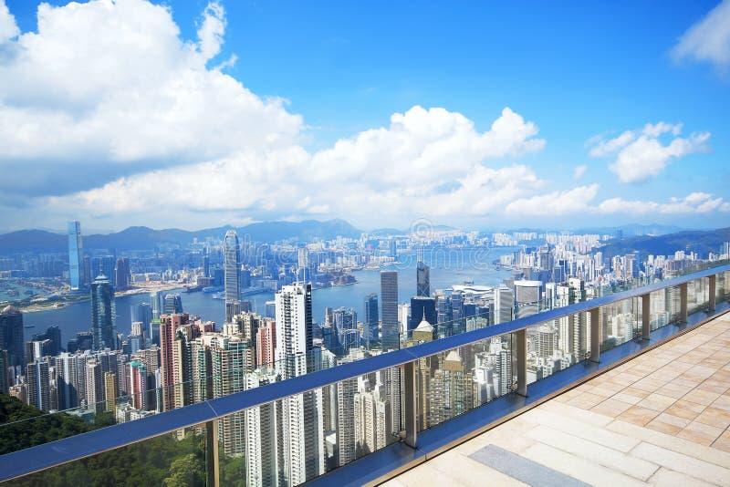 Hong Kong skyline from Victoria Peak royalty free stock photo