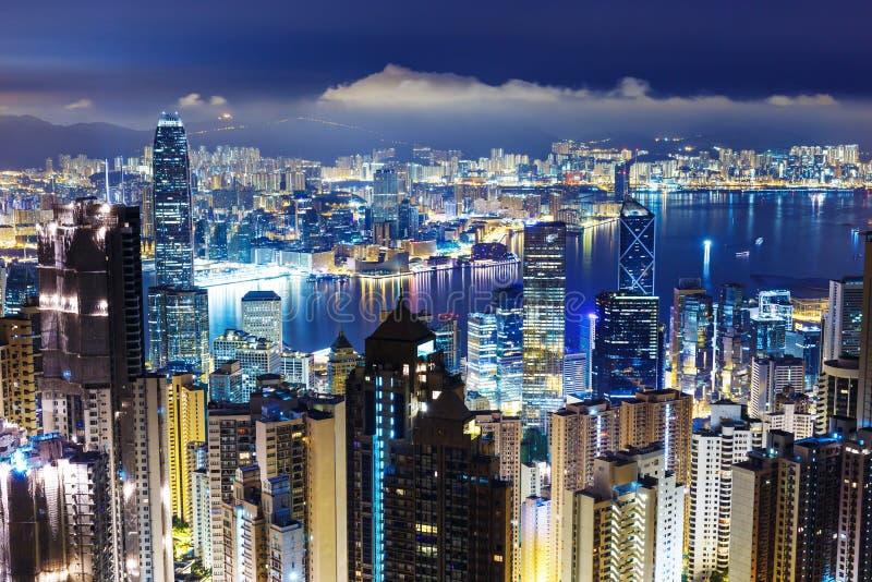 Hong Kong skyline from Victoria Peak stock photos