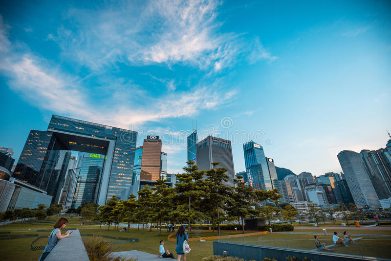 Hong Kong Skyscape i miasto zdjęcie royalty free