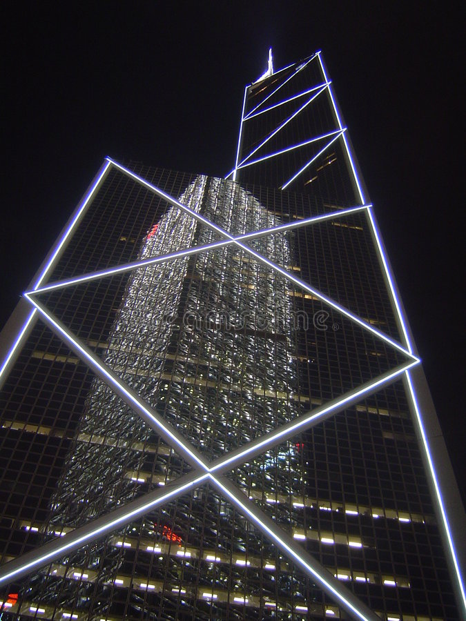 Hong Kong skyskrapa royaltyfria foton