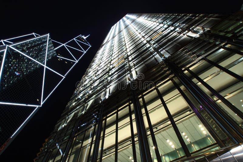 Hong Kong skyskrapor arkivbilder