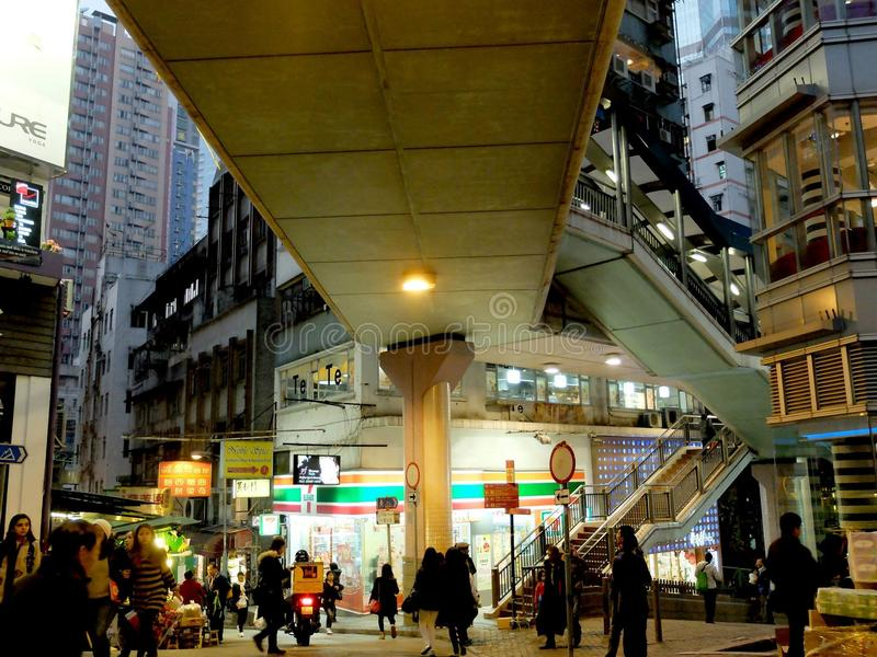 Hong Kong Soho stock image