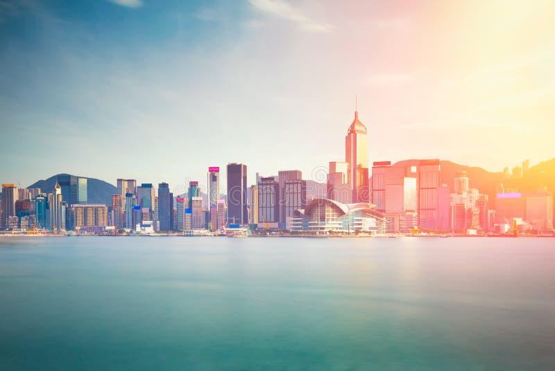 Hong Kong stad från kowloon royaltyfri foto