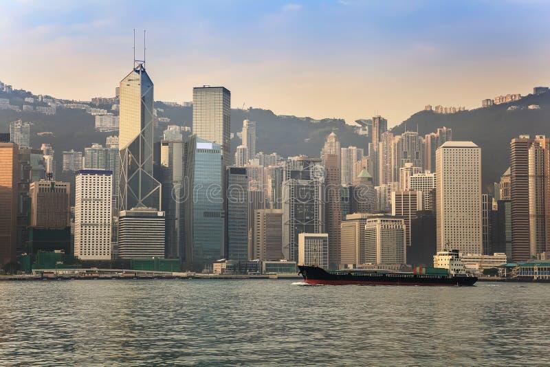 Hong Kong-stadshorizon stock afbeelding